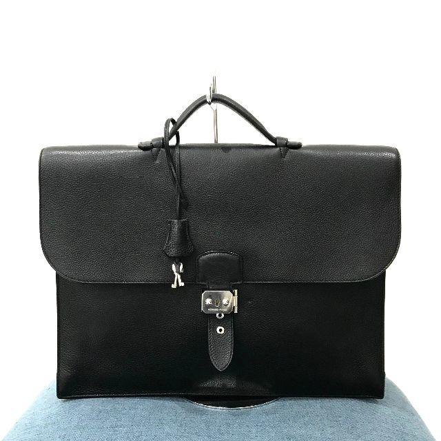Hermes(エルメス)の美品 エルメス サックアデペッシュ38 トゴ 黒 メンズのバッグ(ビジネスバッグ)の商品写真