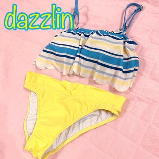 ダズリン(dazzlin)のdazzlin 水着 ビキニ セパレート ブルー イエロー ボーダー ダズリン(水着)