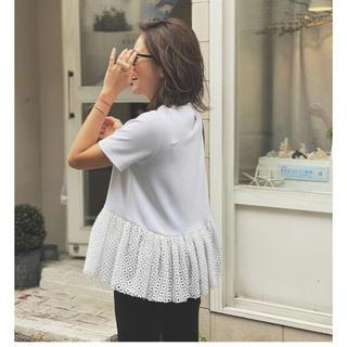 チェスティ(Chesty)のヘムレーストップス⭐︎ホワイト⭐︎ロージーモンスター(Tシャツ/カットソー(半袖/袖なし))