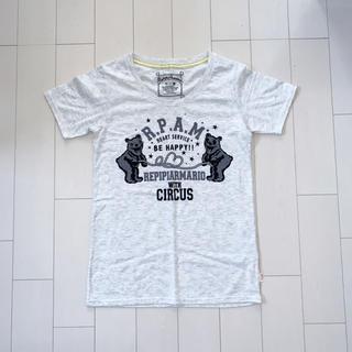 レピピアルマリオ(repipi armario)の〈美品〉repipi armario ロゴTシャツ ライトグレー(Tシャツ(半袖/袖なし))