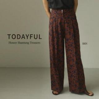 TODAYFUL - トゥデイフル フラワー柄パンツ  38