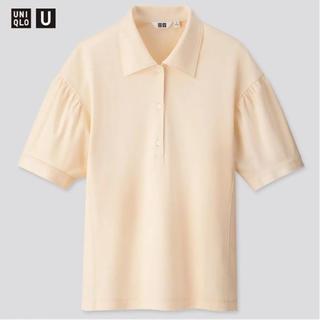 ジーユー(GU)のユニクロ ギャザースリーブポロシャツ(ポロシャツ)