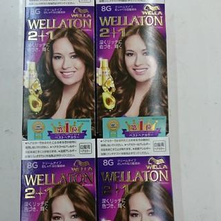 ウエラ(WELLA)の新品・未使用 WELLA ウェラ 白髪染め 8G 4個セット(白髪染め)