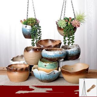 多肉植物 陶器鉢 吊り鉢(プランター)