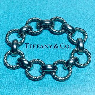 ティファニー(Tiffany & Co.)のVINTAGE TIFFANY ティファニー ラウンド リンク ブレスレット(ブレスレット)