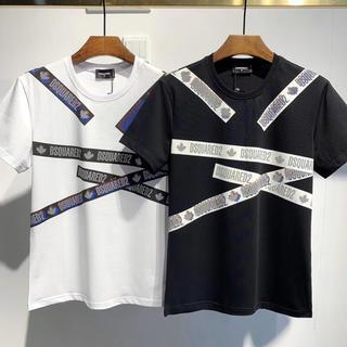 ディースクエアード(DSQUARED2)の限定!DSQUARED2 メンズ丸みえりTシャツ DT444(Tシャツ/カットソー(半袖/袖なし))