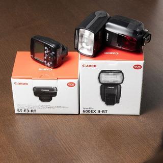 キヤノン(Canon)の【デン様専用】Canon600EX II-RT & ST-E3-RT(ストロボ/照明)