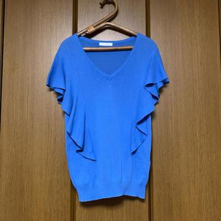 エージーバイアクアガール(AG by aquagirl)のAG by aquagirl ブルー コットン100%(カットソー(半袖/袖なし))