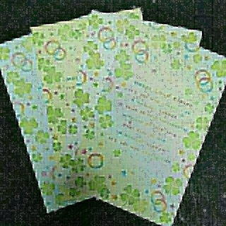 紙モノ クローバー レターセット 増量(カード/レター/ラッピング)