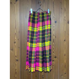 PLEATS PLEASE ISSEY MIYAKE - プリーツプリーズ チェックタックプリーツスカート