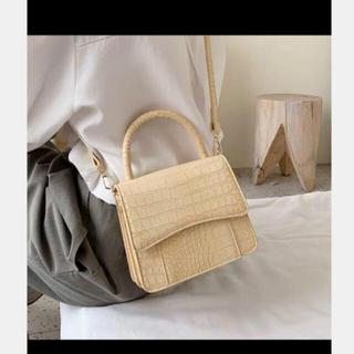 dholic - 韓国ファッション フェイクレザー型押しショルダーバッグ