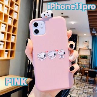 お値下げ中☆【iPhone11pro】スヌーピーiPhoneケース♡ピンク