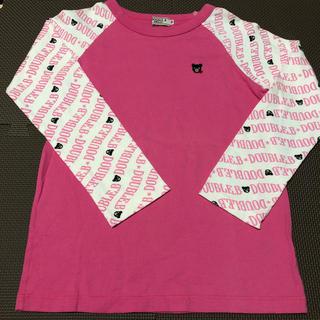 DOUBLE.B - ダブルビー 長袖 Tシャツ ロンT ピンク 130