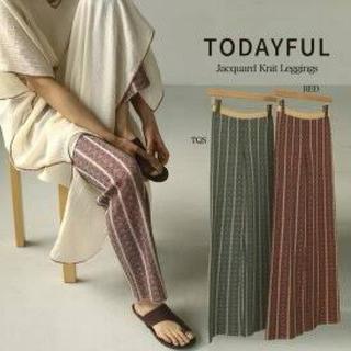 TODAYFUL - Jacquard Knit Leggings ジャガードニットレギンス