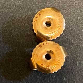 ミキモト(MIKIMOTO)のミキモト  k18  ゴールド ピアス ペア セット(ピアス)