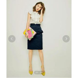 31 Sons de mode - 美品 31 Sons de mode フリルポケット付きタイトスカート ロペ