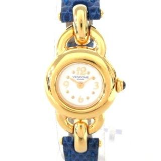 ヴァンドームアオヤマ(Vendome Aoyama)のヴァンドーム青山 腕時計 - レディース 白(腕時計)