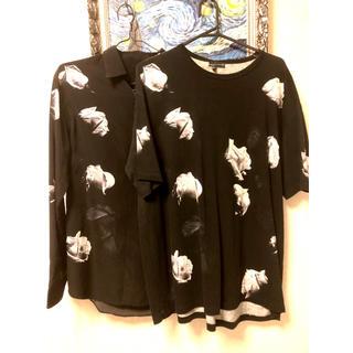 ラッドミュージシャン(LAD MUSICIAN)のlad musician 18aw シャツ&tシャツ 2枚セット 花柄シャツ(シャツ)