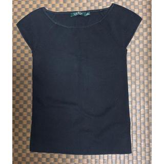 ラルフローレン(Ralph Lauren)のラルフローレン サマーニット 半袖ニット レディース ブラック 綿 コットン(ニット/セーター)