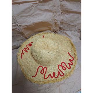 miumiu - miu miu 2018 ロゴ刺繍 麦わら帽子