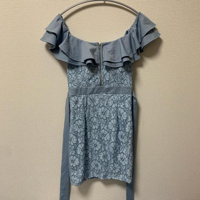 dazzy store(デイジーストア)のキャバドレス♡ウエストリボンレースオフショルタイトドレス レディースのフォーマル/ドレス(ナイトドレス)の商品写真