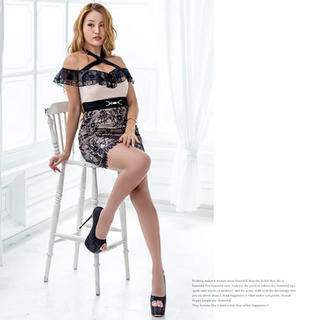 dazzy store - キャバドレス♡オフショルレースタイトドレス