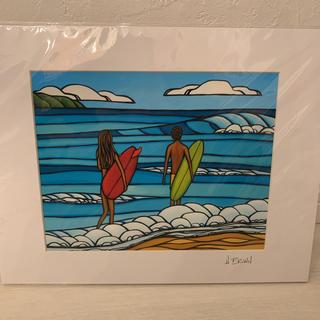 ロンハーマン(Ron Herman)の新品◆ヘザーブラウンアート◆ Love and Surf マットプリント(絵画/タペストリー)