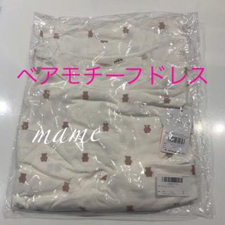 ジェラートピケ(gelato pique)の新品♡ベアモチーフドレス♡オフホワイト②♡ジェラートピケ(ルームウェア)