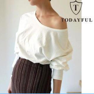 トゥデイフル(TODAYFUL)のtodayful ワンショルダーロングTシャツ(Tシャツ(長袖/七分))
