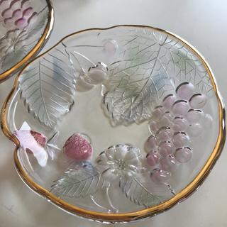 アンティーク  小皿 フルーツ皿 古皿 ガラス ヴィンテージ
