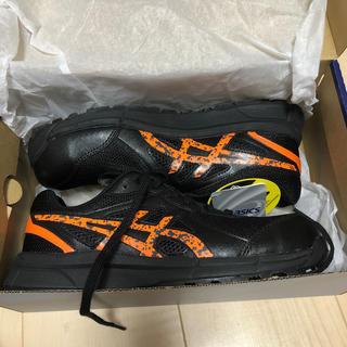 アシックス 安全靴 FCP106 ブラック/オレンジポップ 24.5cm
