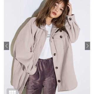 グレイル(GRL)のベルト付きエコメルトンビックシルエットシャツジャケット グレイル(その他)