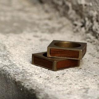 Maison Martin Margiela - Maison Martin Margiela square wood  ring