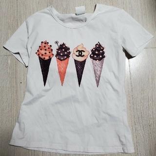 ZARA - アイスクリーム Tシャツ ホワイト Lサイズ 韓国ファッション