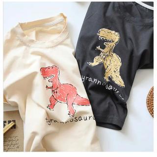 ダイナソーTシャツ 韓国子供服 リンクコーデ(Tシャツ)
