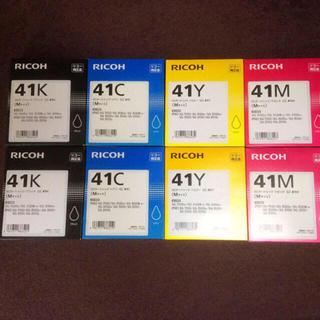 リコー(RICOH)の8本新品 リコー GC41 K M C Y RICOHトナー トナーカートリッジ(OA機器)