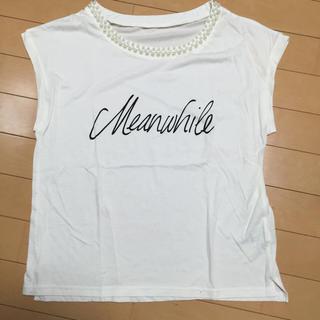 ミスティウーマン(mysty woman)のmysty womanパールトップス(Tシャツ(半袖/袖なし))