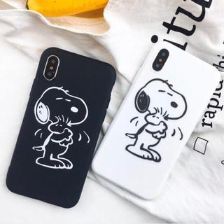 ☆ブラック/ホワイト iPhoneケース☆スヌーピー