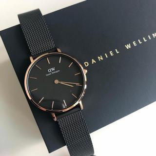 Daniel Wellington - 【定価2.3万円】美品★DW00100201★32mmレディース腕時計★メッシュ