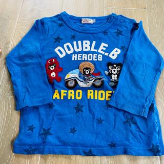 ダブルビー(DOUBLE.B)のミキハウス アフロライダー ロンT 90 ブルー(Tシャツ/カットソー)