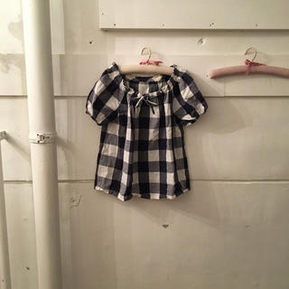 vintage check blouse.