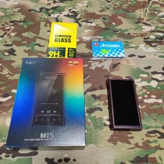 Fiio M15 美品 純正レザーケース オマケ付き