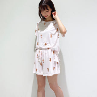 ジェラートピケ(gelato pique)の完売品❗ジェラートピケ テディベアTシャツ&ショートパンツ ピンク(ルームウェア)