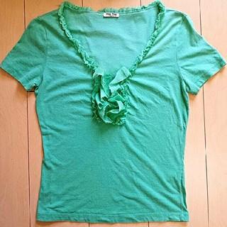 サカイ(sacai)のmiu miu ミュウミュウ トップス(シャツ/ブラウス(半袖/袖なし))