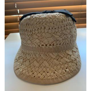 プティマイン(petit main)のプティマイン⭐︎麦わらリボンキャップ 帽子 ハット(帽子)