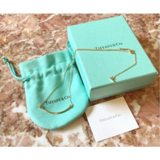 Tiffany & Co. - 美品ティファニー  Tスマイルネックレス
