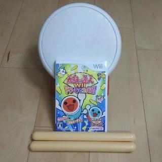 ウィー(Wii)の太鼓の達人ソフトとコントローラーのセット(家庭用ゲームソフト)