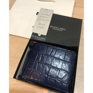 ブラックレーベルクレストブリッジ(BLACK LABEL CRESTBRIDGE)の新品 ブラックレーベルクレストブリッジ クロコ クロコダイル 二つ折り 財布(折り財布)