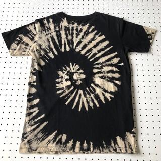 新品 タイダイ柄Tシャツ 黒×ベージュ Sサイズ