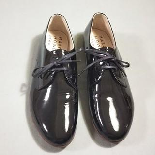 マーガレットハウエル(MARGARET HOWELL)のマーガレットハウエル  レースアップ エナメル フラットシューズ(ローファー/革靴)